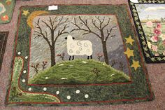 sheep on hill ~ really beautiful colors ~ a Woolley Fox pattern