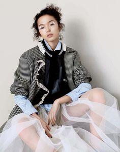 Xiao Wen Ju by Ben Toms for Vogue China April 2016 - Miu Miu