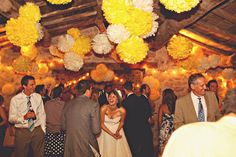 Italian wedding full of Sunshine, Fur Coat No Knickers Wedding Dress Yellow Wedding Dress, Yellow Wedding Flowers, Wedding Dresses, Yellow Weddings, Wedding Pom Poms, Under The Tuscan Sun, Rustic Wedding, Wedding Decor, Wedding Ideas