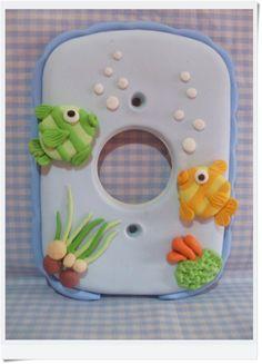 Interruptor de luz e tomada decorados em biscuit, <br>**após efetuar a compra por gentileza nos informar a marca do interruptor ou nos envie uma foto**