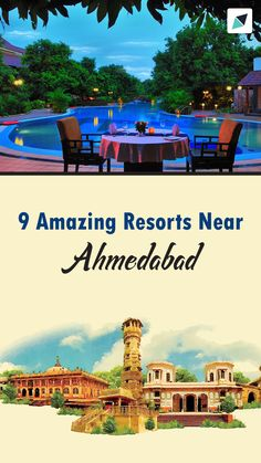 Take a look at these 15 finest resorts near Ahmedabad which will allure you with their charms, modernity, concepts and amenities. You are in for a surprise in North India, Best Resorts, Ahmedabad, India Travel, Places To Travel, Charms, Vacation, Amazing, Vacations