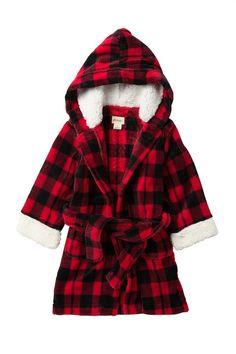 2d571c83114b Faux Shearling Trim Plaid Robe (Toddler   Little Kid) Petit Lem