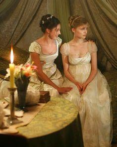 War and Peace 2007 - Natasha Rostova and Sonya Rostova Jane Austen, Great Comet Of 1812, The Great Comet, Regency Dress, Regency Era, Historical Costume, Historical Clothing, Regency Fashion, Elizabethan Fashion
