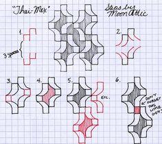 Thai-Mex.  Tangle Pattern by Janice Sherlock / MoonAttic.