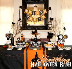 Halloween dessert table.