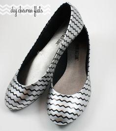 DIY Shoe Makeovers : DIY Chevron Flats