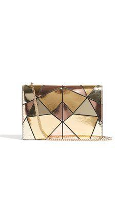 Karen Millen Metallic Patchwork Chain Bag