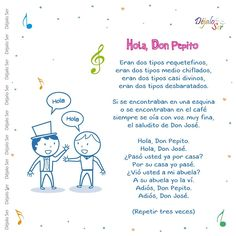 Preschool Poems, Preschool Spanish, Spanish Activities, Preschool At Home, Teaching Spanish, Nursery Rhythm, Spanish Lessons For Kids, Dual Language Classroom, Spanish Songs