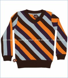 diagonal striped sweater for little boys