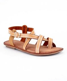 Take a look at this Khaki Sylvia-05 Sandal by Cape Robbin Collection on #zulily today!