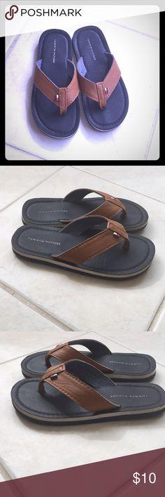 843c044e0198 Tommy Hilfiger Boys Flip Flop Size 13 - GUC Boys flip flops. Some wear