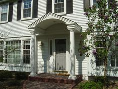 How to Add Curb Appeal with a Portico - Four Generations One Roof