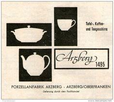 Original-Werbung/ Anzeige 1957 - ARZBERG PORZELLAN - ca. 80 x 65 mm