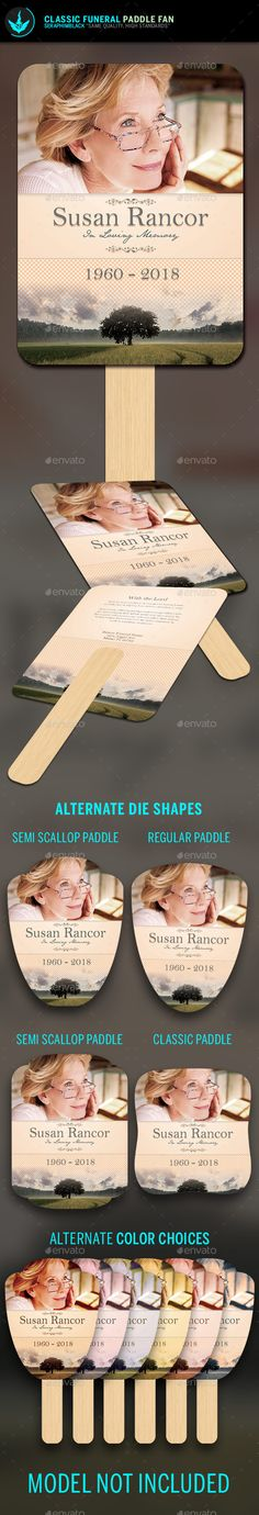 Classic Funeral Paddle Fan Template