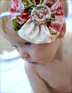flower print headband for baby girl newborn toddler by verosjoy