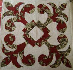 Sarah Morrell quilt Fleur de Lis block