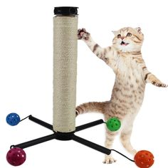 New Cat Toy Cat Furniture Scratchers Cat House Swinging The Bell Ball Cat Tree Scratch Toy for Pet Kitten Jumping //Price: $25.84      #FirstDayOfSummer
