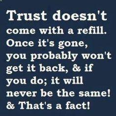 Trust ? Never Again!