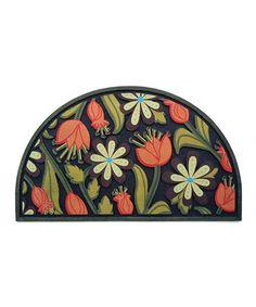 Orange U0026 Green Masterpiece Floral Semicircle Doormat #zulilyfinds