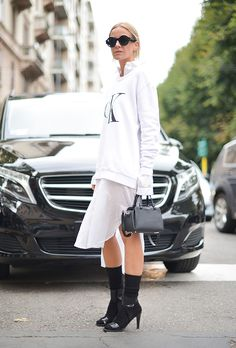 How to Layer Dresses like a Street Style Star