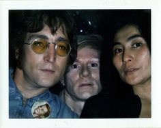 Andy Warhol - Polaroids - John Lennon, Andy Warhol, and Yoko Ono, 1971