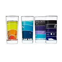EARTH SCIENCE GLASSES - SET OF 4|UncommonGoods Made in New Jersey and decorated in West Chicago, IL