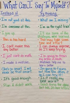 Positive ways of thinking... Changing mindsets