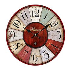 Mediterranean Wall Clock - USD $ 29.99