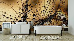 Omyvatelná Fototapeta Mokré pampeliška osivo ✓ Snadná instalace ✓ 365 denní záruka vrácení peněz ✓ Procházejte ostatní vzory z této kolekce!