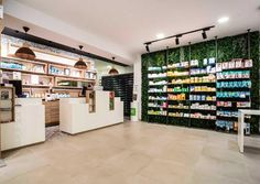 Pharmacy Store, Pharmacy Student, Black Beauty Supply, Retail Shelving, Retail Concepts, Green Nature, Salon Design, Layout, Store Design