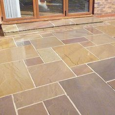 Garden Paving Calibrated Indian Stone Paving Multi Buff (Sold Per Paving Stone Patio, Sandstone Paving, Patio Slabs, Paving Stones, Concrete Patio, Limestone Patio, Granite Paving, Diy Patio, Backyard Patio
