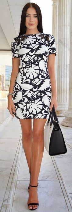 Little Print Dress   Laura Badura