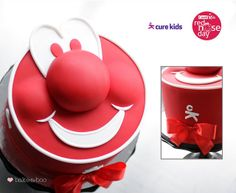 Red nose day -Cure Kids cake by Bake-a-boo Cakes NZ, via Flickr