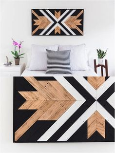 This piece would look amazing hanging on a wall! This southwestern style reclaimed wood wall art, a mix of earthy materials and contemporary shapes, adds a hint of modern flair to an. Reclaimed Wood Wall Art, Reclaimed Wood Projects, Wooden Wall Art, Wooden Walls, Art On Wood, Home Decoracion, Creation Deco, Room Themes, Wood Design
