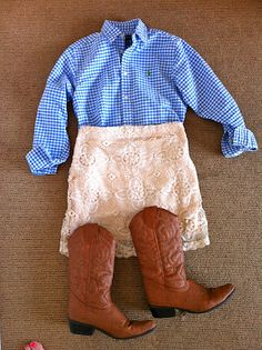 gingham & lace = so cute!