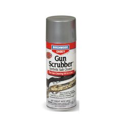 Birchwood Casey Gun Scrubber Synthetic Safe Cleaner by Birchwood Casey. $7.19. Cleaning your firearms just got a whole lot easier thanks to Gun Scrubber Synthetic Safe Cleaner. Now you can buy one solvent/degreaser that does the job safely on every single firearm that you own. Gun Scrubber Synthetic Safe Cleaner cleans fast and will not harm firearm plastics, wood, laminates, composites, rubber grips or any other material used in the construction of today's firearms. Even ...