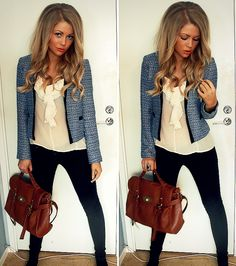 Love the whole look...even her ombre hair color!