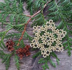Tatting Lace Gold Snowflake Gold snowflake by ElenaRakovska