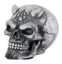 """A spooky accessory for your car, hand painted in a chrome finish. Made of cold cast resin. Hand painted. L: 3"""" x W: 2.0"""" x H: 2.25"""""""