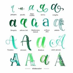 Variationen Buchstabe A - Handlettering Typography will be the craft as well as manner of Hand Lettering Alphabet, Doodle Lettering, Creative Lettering, Calligraphy Letters, Brush Lettering, Typography, Calligraphy Alphabet Tutorial, Hand Lettering Tutorial, Bullet Journal Font