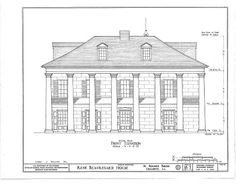 19 x 24 in. (B size) Greek Revival Architecture, Colonial Architecture, Historical Architecture, Architecture Plan, Battle Of New Orleans, Creole Cottage, Southern Plantations, French Colonial, Plantation Homes