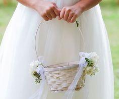 Spring wedding flower girl