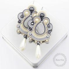 Kavrila - biżuteria autorska . sutasz . soutache: Oriental grey soutache