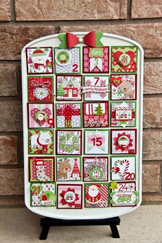 Luv-a-Lot Land: Muffin Tin Advent Calendar with Doodlebug Design Home for the Holidays!
