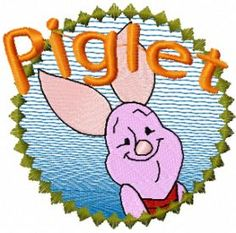 piglet free embroidery design. Machine embroidery design. www.embroideres.com