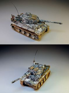FoW Flames of War German Tiger IE 'Winter' (15mm)