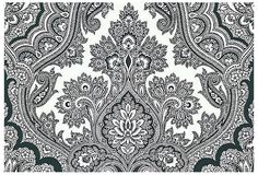 Chic Paisley Wallpaper, Black/White on OneKingsLane.com