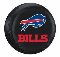 Buffalo Bills Black Tire Cover - Size Large