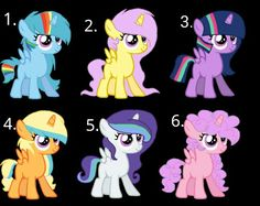 5 is mine please adopt chose a name for a pony you can adopt 2 ponies Mlp Adoption, Lps Toys, Cute Doodles, Fluttershy, Equestria Girls, My Little Pony, Emo, Cartoon Family, To My Daughter