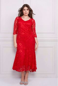 Queenspark Plus Collection Dresses With Sleeves, London, Formal Dresses, Long Sleeve, Red, Beautiful, Collection, Fashion, Dresses For Formal